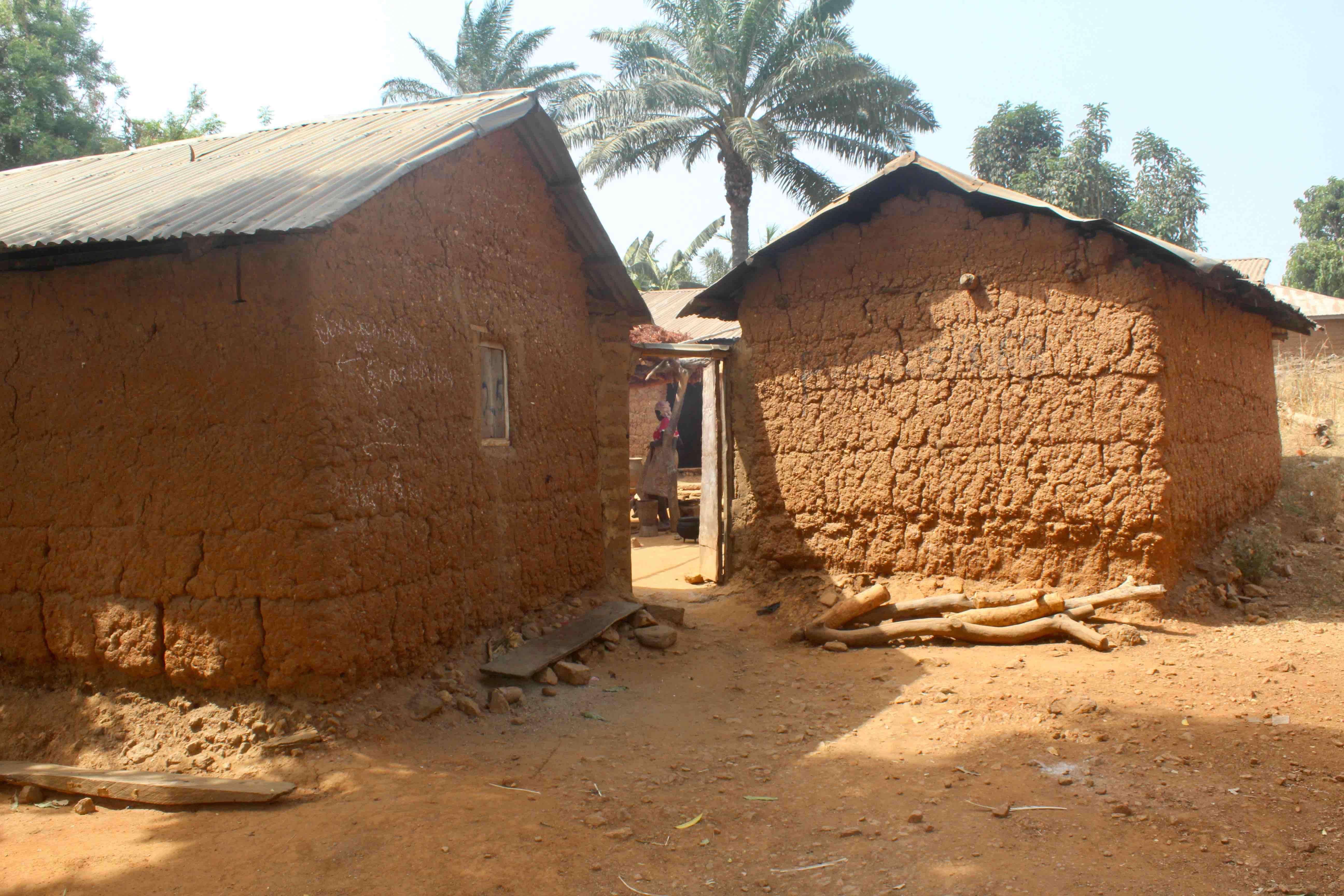 Red mud huts in Langa Langa Village, Nasarawa State, Nigeria. #JujuFilms