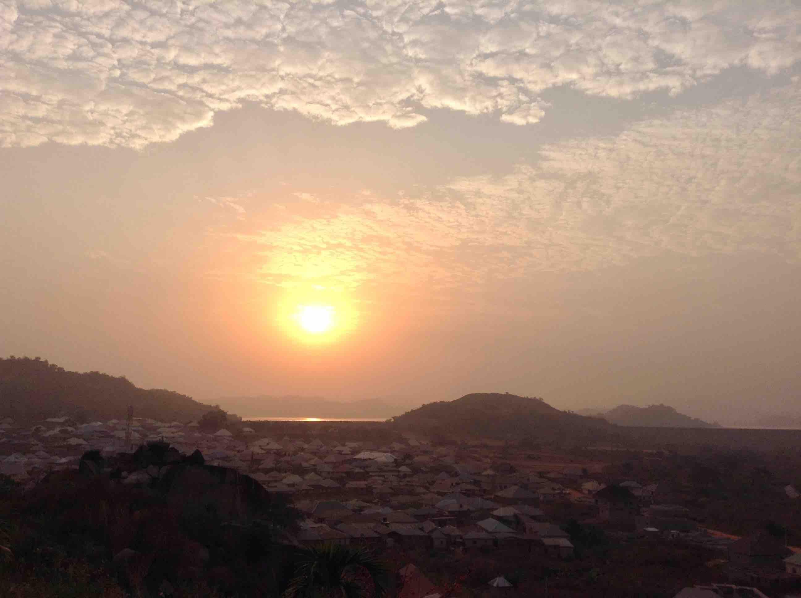 Sunrise over Usuma Lake, Ushafa Village, Abuja, Nigeria. #JujuFilms