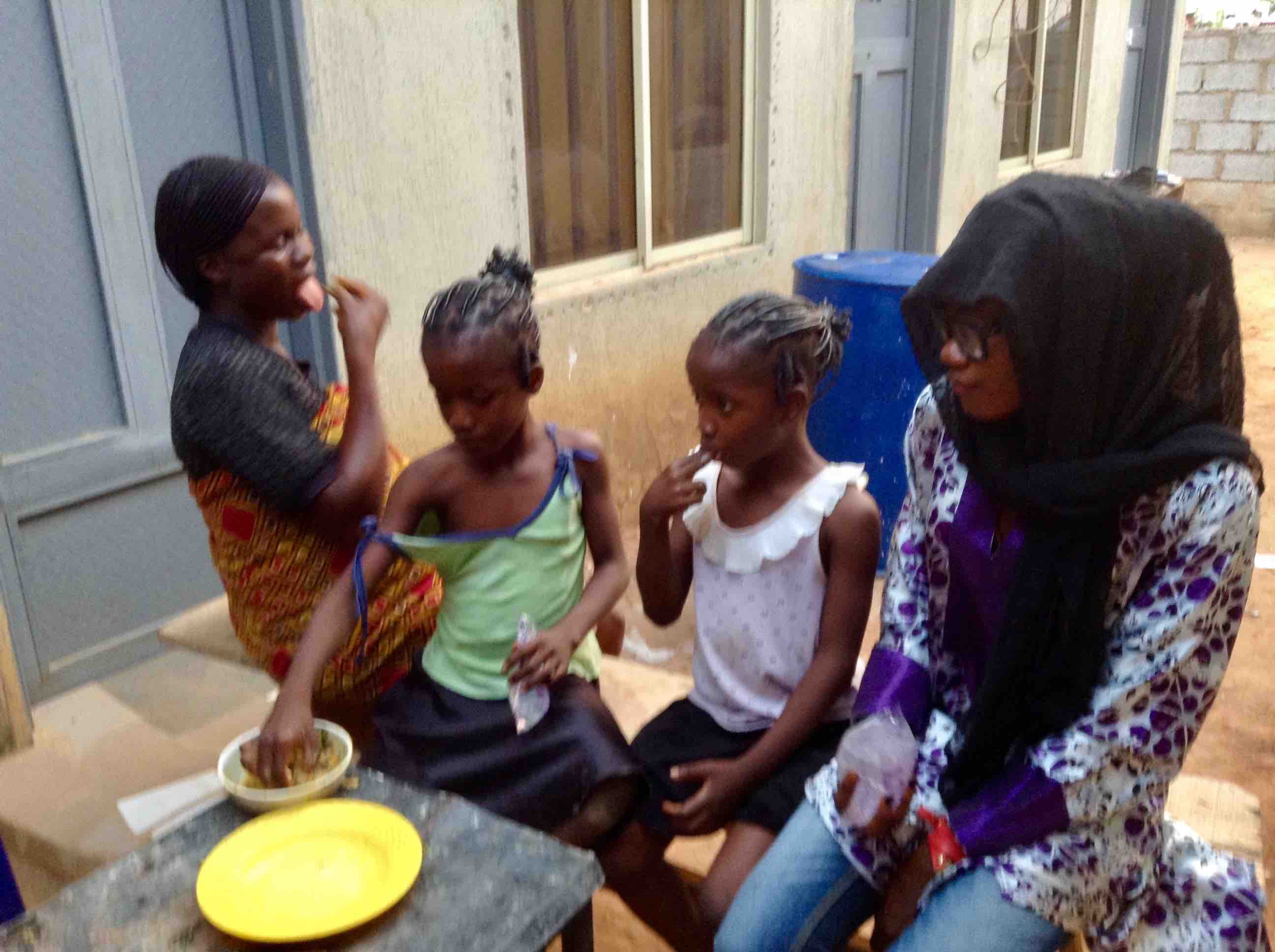 Family diner, Ushafa Village, Abuja, Nigeria. #JujuFilms