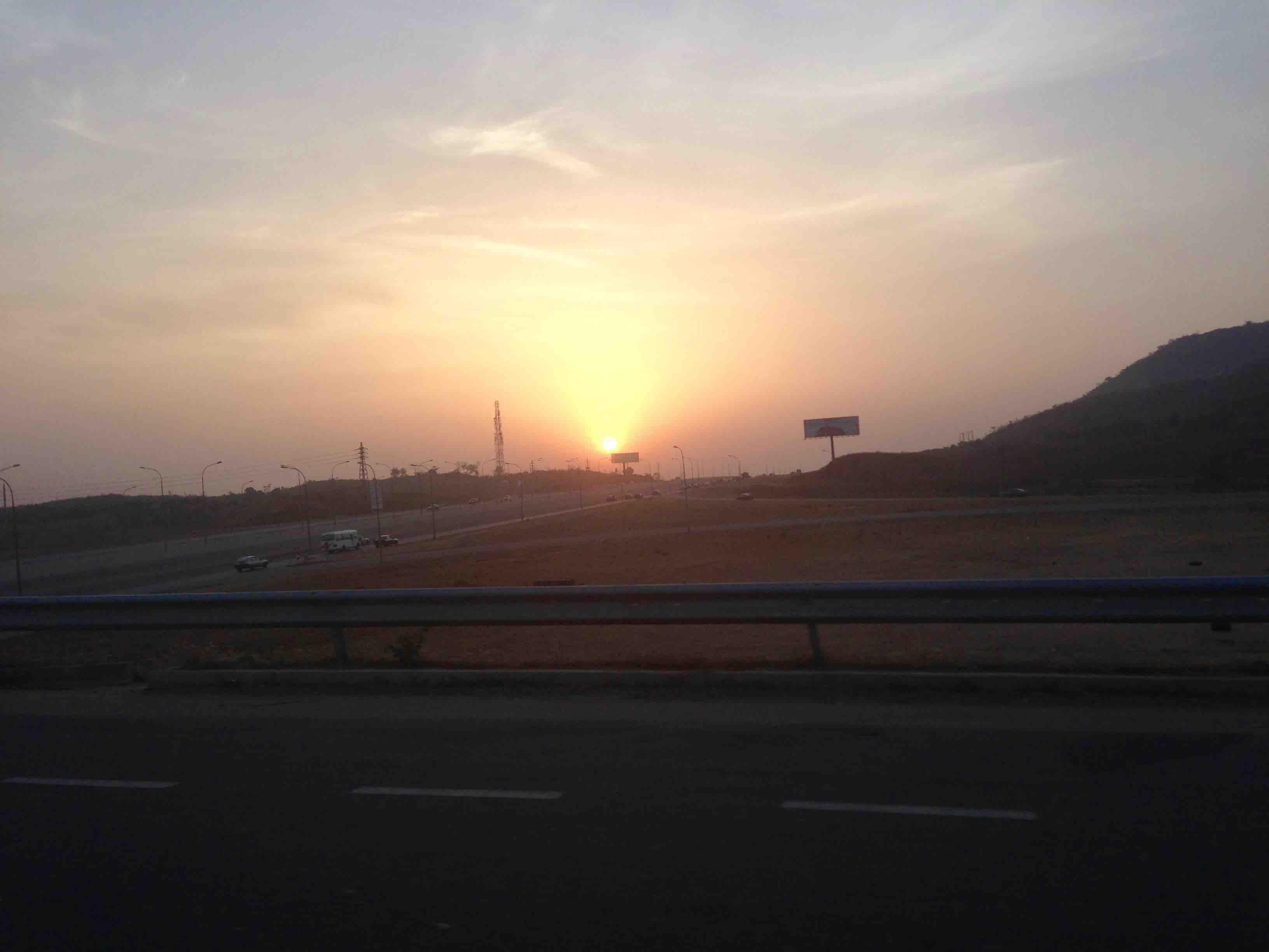 Sunrise, Airport Road, Abuja, Nigeria. #JujuFilms