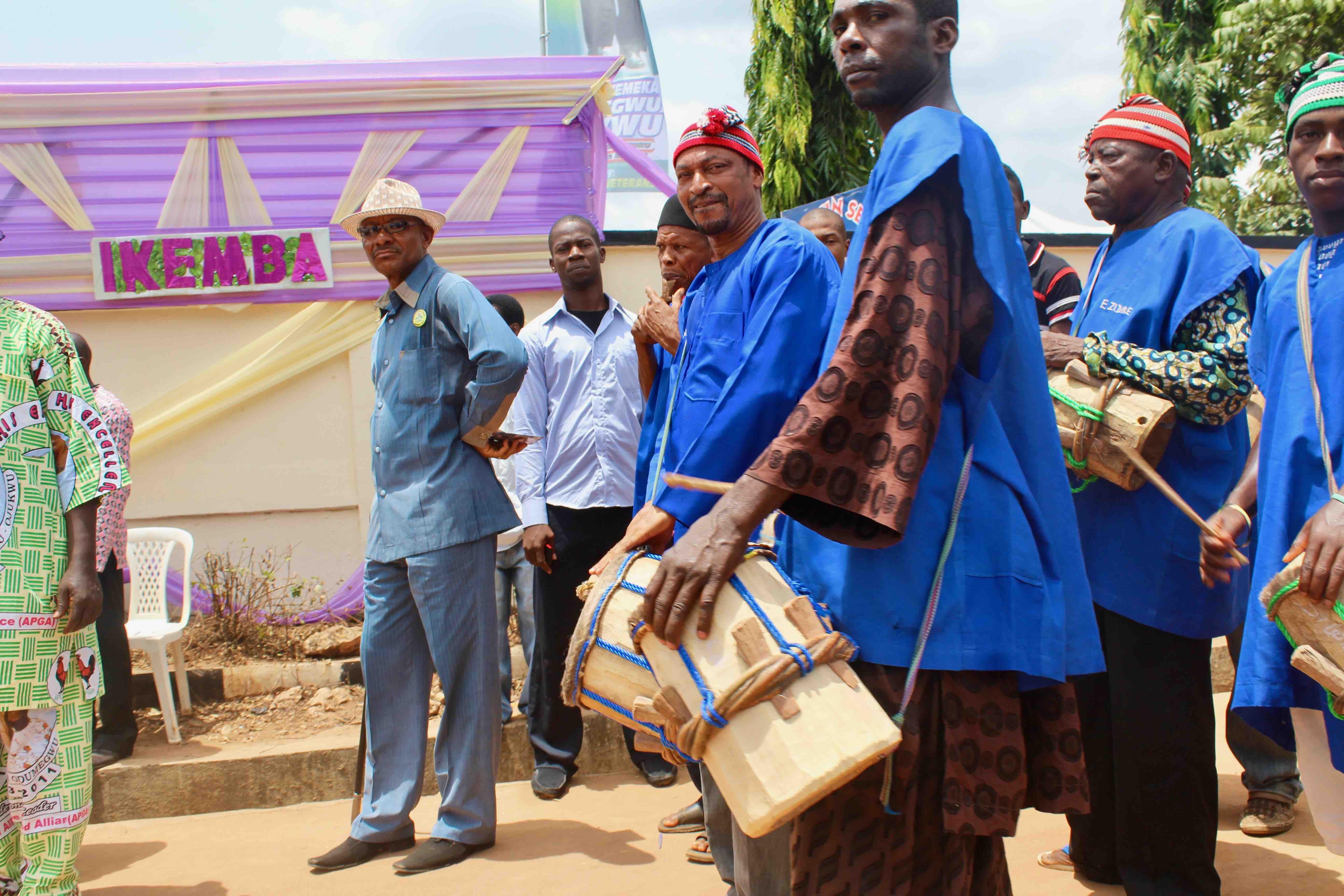 Nnewi Traditional Drummers, at the funeral service of Chukwuemeka Odumegwu Ojukwu, in Nnewi, Anambra State, Nigeria. #JujuFilms