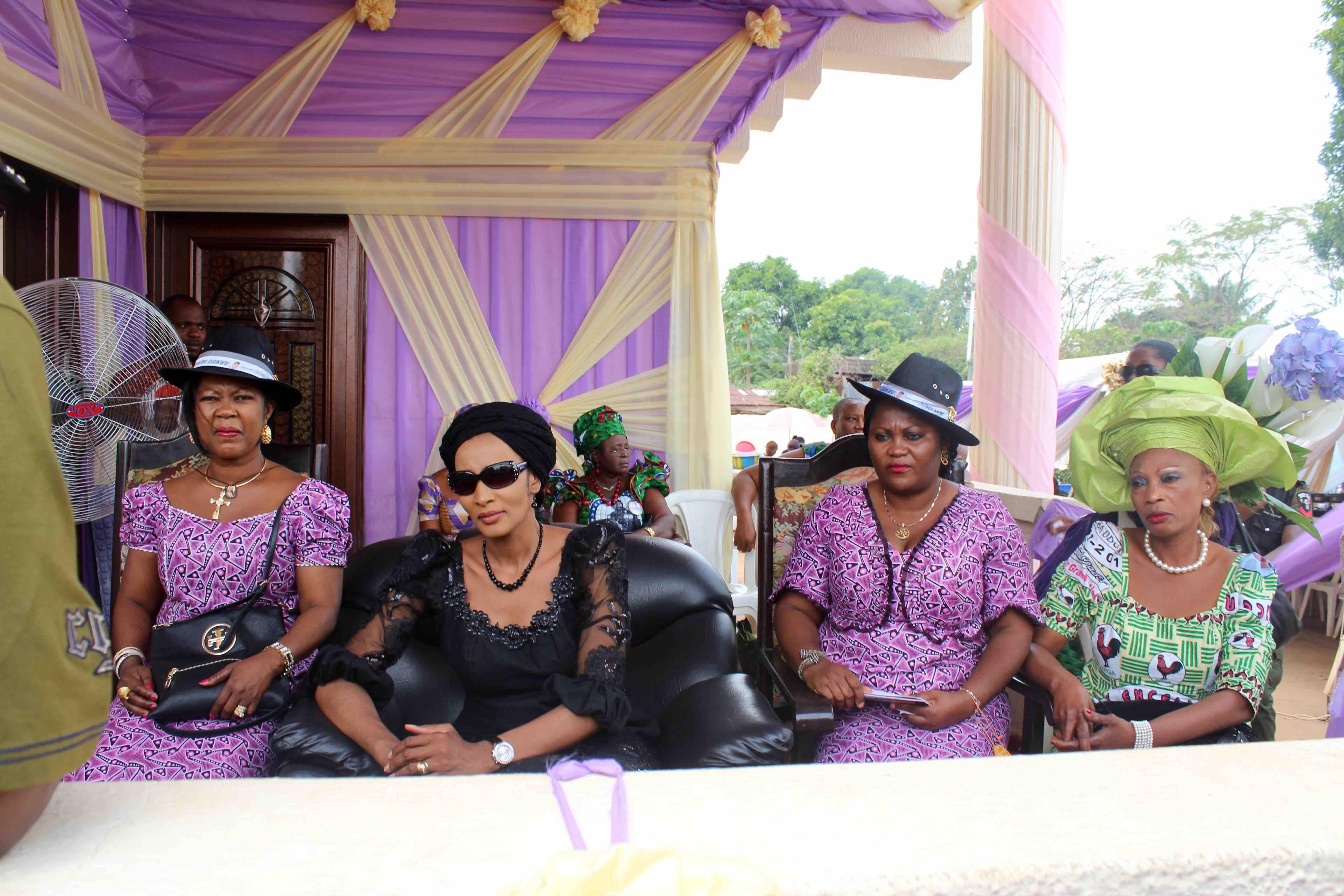 Bianca Ojukwu at the funeral service of her late husband Chukwuemeka Odumegwu Ojukwu, in Nnewi, Anambra State, Nigeria. #JujuFilms