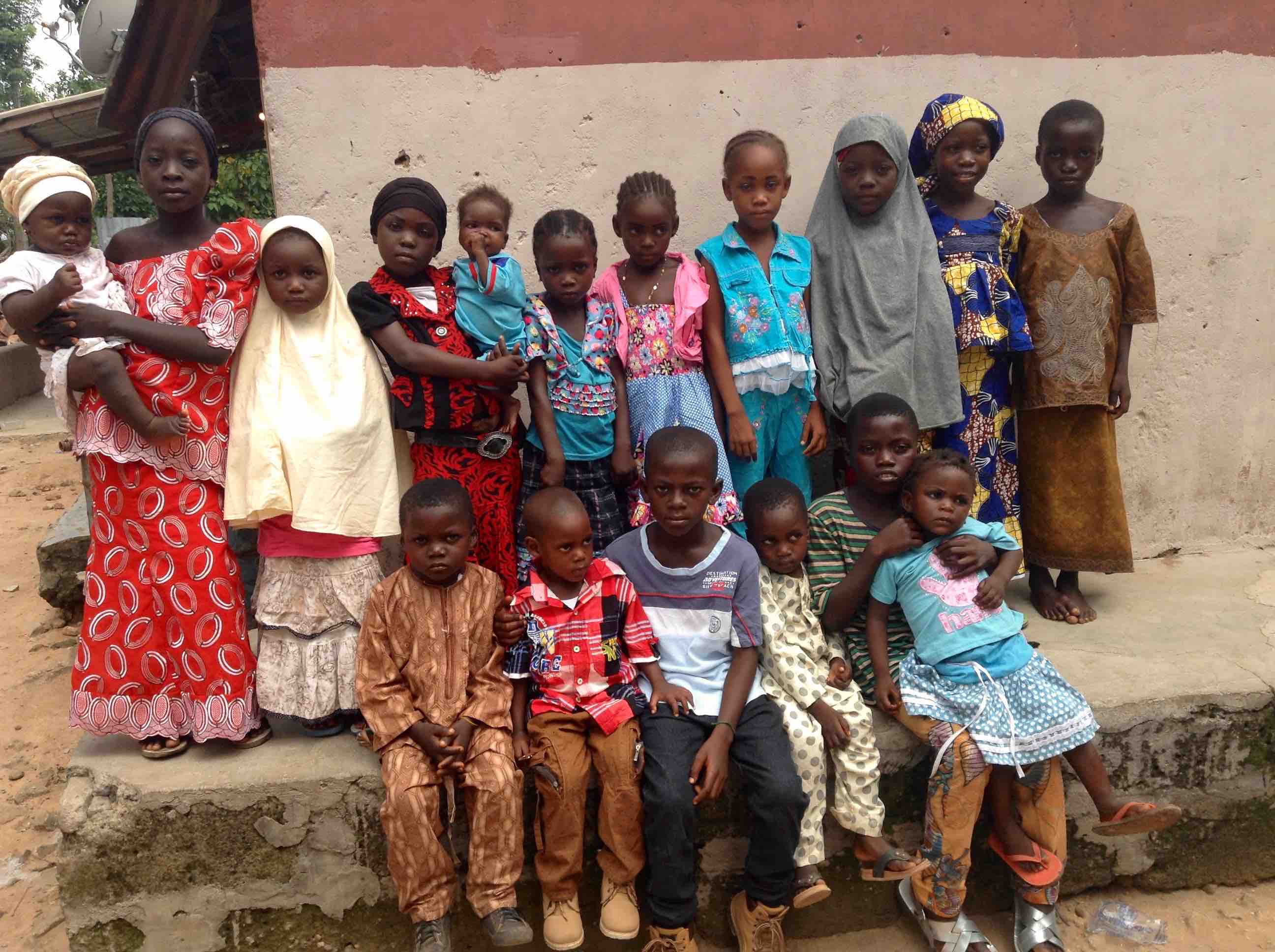 Mama Ayida Maku's great grandchildren, she had 79, Langa Langa Village, Nasarawa State, Nigeria. #JujuFilms