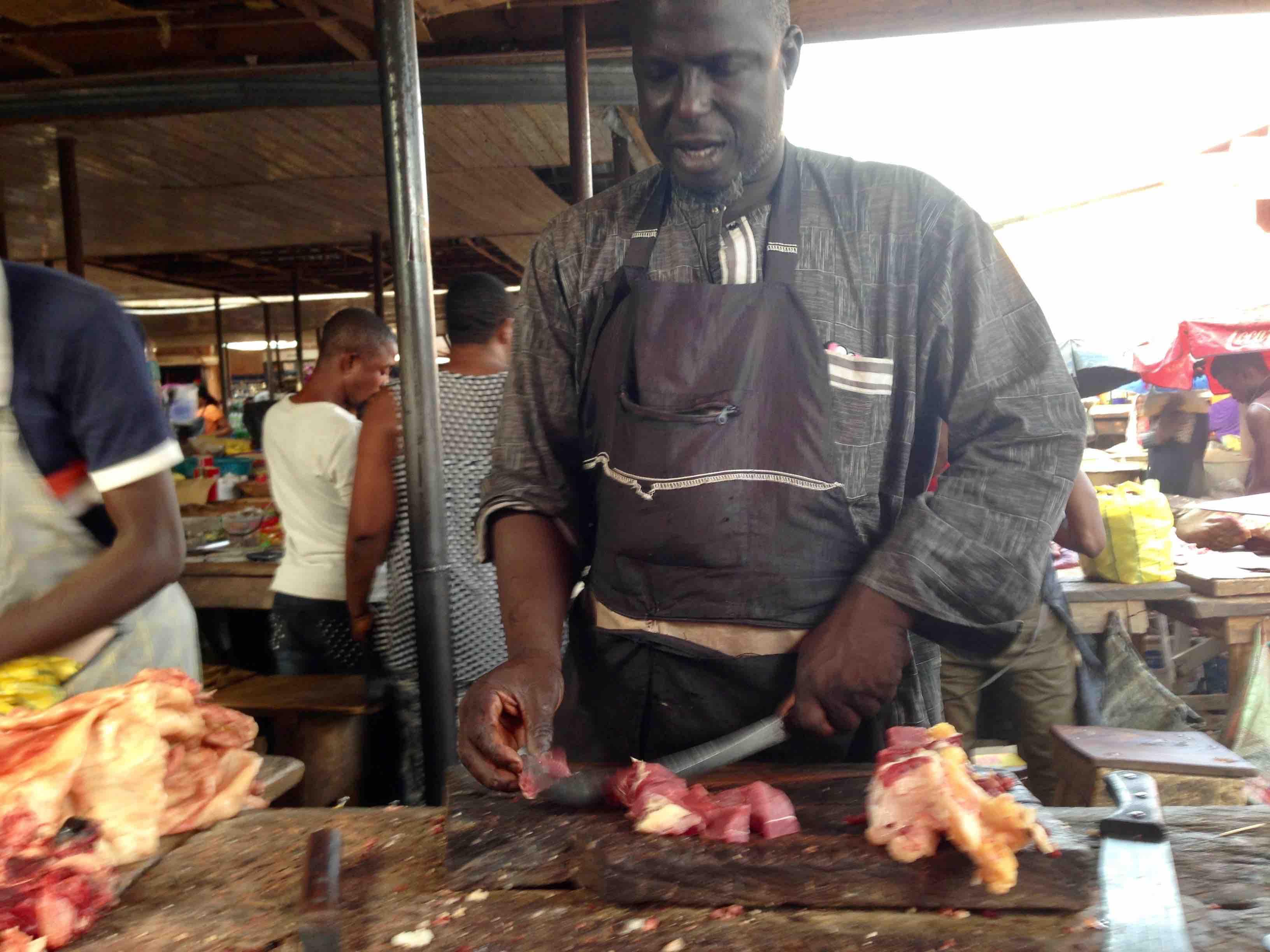 Alhaji is a butcher in Dutse Market, Dutse, Abuja, Nigeria, #JujuFilms