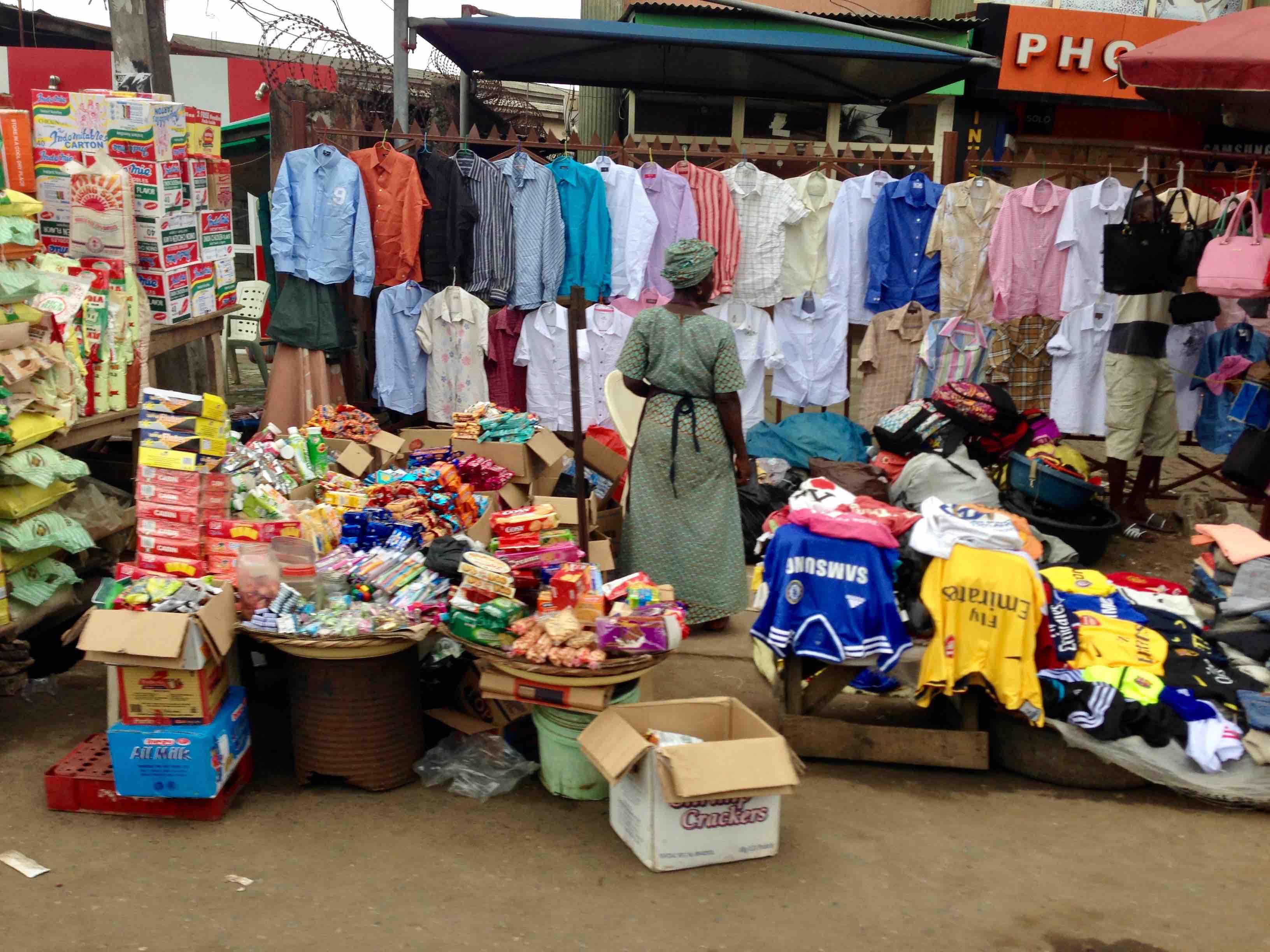 Street market scene, Lagos, Lagos State, Nigeria, #JujuFilms