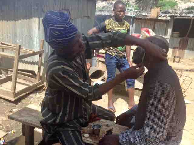 Shaving in Ushafa Village, FCT, Abuja, Nigeria, #JujuFilms